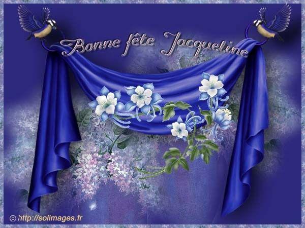 """Résultat de recherche d'images pour """"bonne fête Jacqueline"""""""